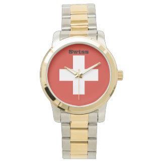 Flag of Switzerland Wristwatch