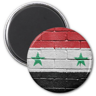 Flag of Syria 2 Inch Round Magnet