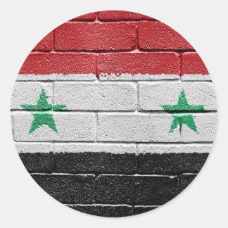 Flag of Syria Classic Round Sticker