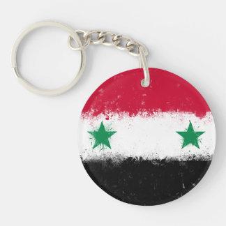 Flag of Syria Double-Sided Round Acrylic Keychain