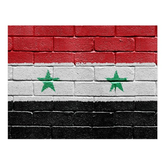 Flag of Syria Postcard