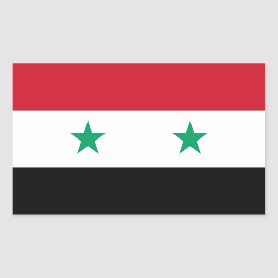 Flag of Syria Rectangular Sticker