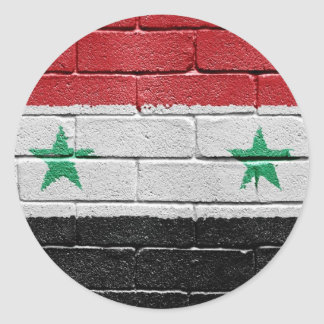 Flag of Syria Classic Round Sticker