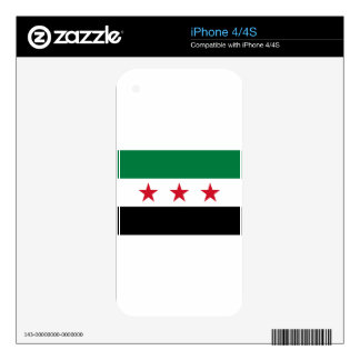 Flag of Syria - Syrian Independence flag Skin For The iPhone 4S