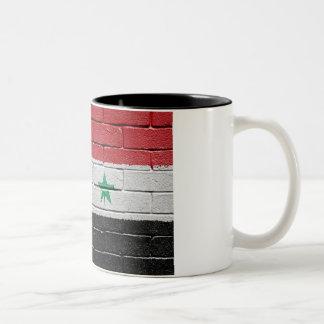 Flag of Syria Two-Tone Coffee Mug
