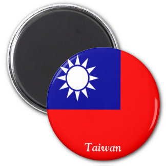 Flag of Taiwan 2 Inch Round Magnet