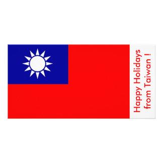 Flag of Taiwan, Happy Holidays from Taiwan Card
