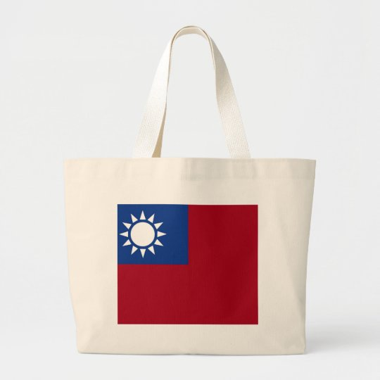 Flag of Taiwan Republic of China Large Tote Bag