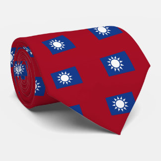 Flag of Taiwan Republic of China Neck Tie