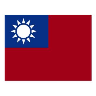Flag of Taiwan Republic of China Postcard