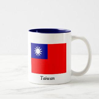 Flag of Taiwan Two-Tone Coffee Mug