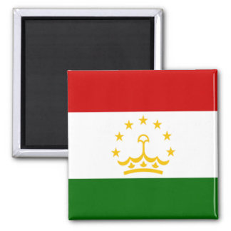 Flag of Tajikistan 2 Inch Square Magnet