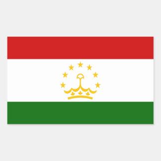 Flag of Tajikistan Rectangular Sticker