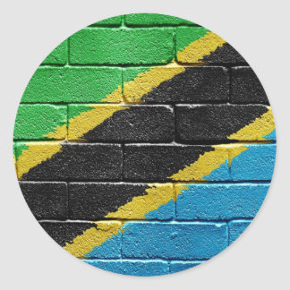 Flag of Tanzania Classic Round Sticker