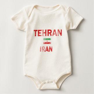 Flag of Tehran Iran designs Baby Bodysuit