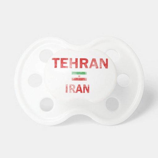 Flag of Tehran Iran designs Baby Pacifier