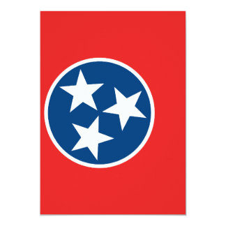 """Flag of Tennessee 5"""" X 7"""" Invitation Card"""