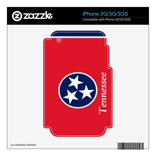 Flag of Tennessee iPhone 3 Skins