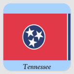 Flag of Tennessee Square Sticker