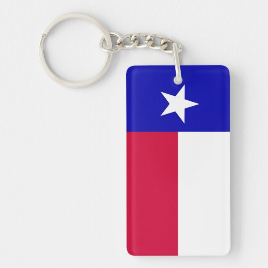 Flag of Texas Acrylic Keychain (Single Sided)