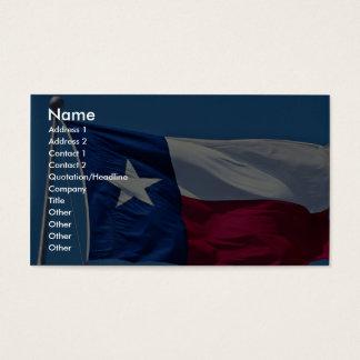 Flag of Texas Business Card