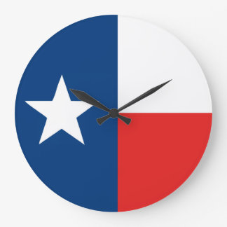 Flag of Texas Round Wall Clock