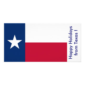 Flag of Texas, Happy Holidays from U.S.A. Card