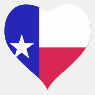 Flag of Texas Heart Sticker