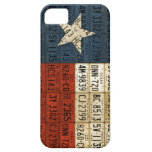 Flag of Texas Lone Star State License Plate Art iPhone 5 Covers