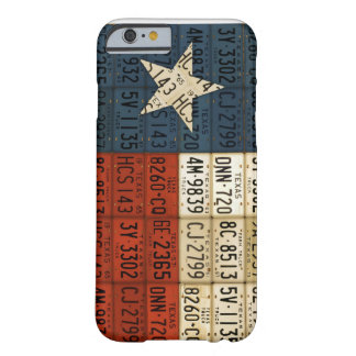 Flag of Texas Lone Star State License Plate Art iPhone 6 Case