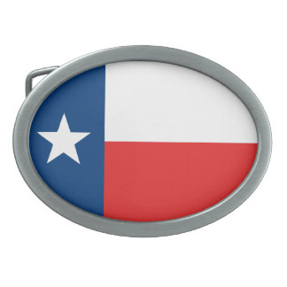 Flag of Texas Oval Belt Buckle