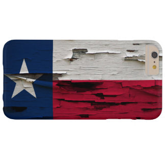 Flag of Texas Paint Peel Look Barely There iPhone 6 Plus Case