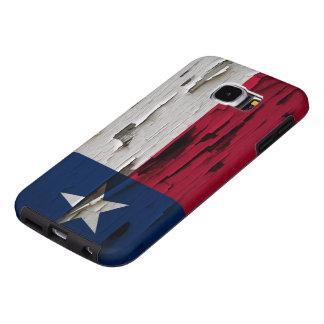 Flag of Texas Paint Peel Look Samsung Galaxy S6 Case