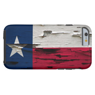 Flag of Texas Paint Peel Look Tough iPhone 6 Case