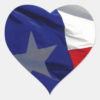 Flag of Texas Pop Art Heart Sticker