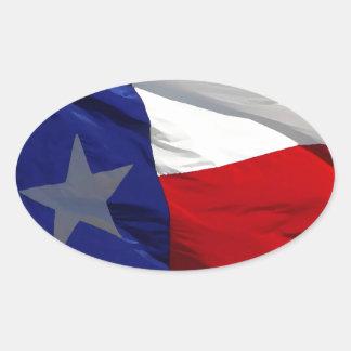 Flag of Texas Pop Art Oval Sticker