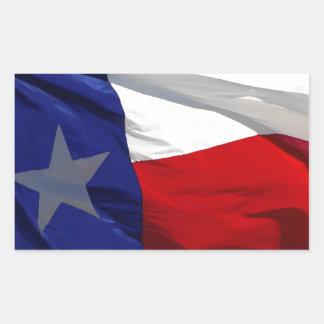 Flag of Texas Pop Art Rectangular Sticker