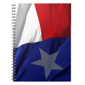 Flag of Texas Pop Art Spiral Note Book