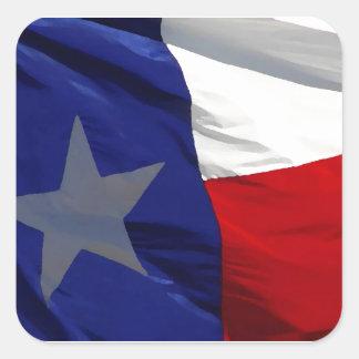Flag of Texas Pop Art Square Sticker
