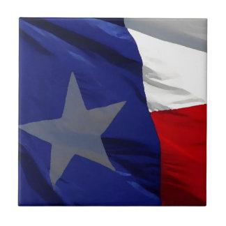 Flag of Texas Pop Art Small Square Tile