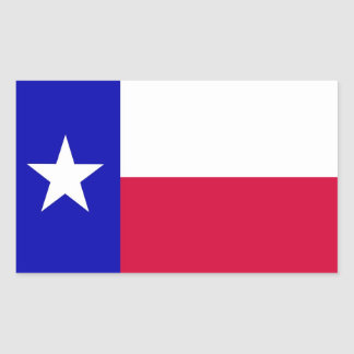 Flag of Texas Rectangular Sticker