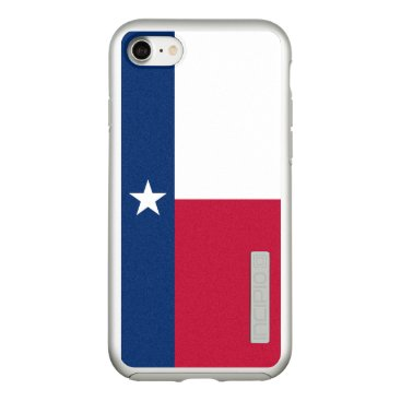 USA Themed Flag of Texas Silver iPhone Case