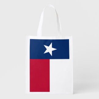 Flag of Texas Grocery Bags