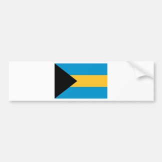 Flag of the Bahamas Car Bumper Sticker