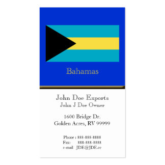 Flag of the Bahamas Double-Sided Standard Business Cards (Pack Of 100)