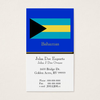 Flag of the Bahamas Business Card