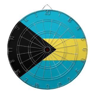 Flag Of The Bahamas Dartboard With Darts