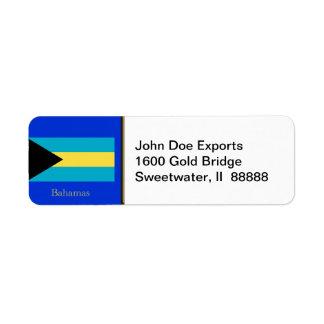 Flag of the Bahamas Return Address Label
