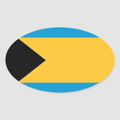 Flag of the Bahamas Oval Sticker