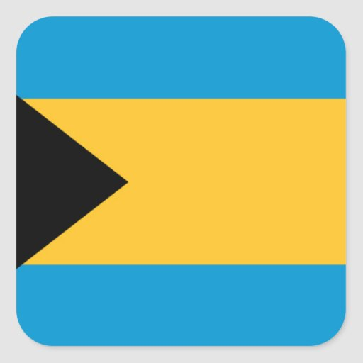 Flag of the Bahamas Square Sticker
